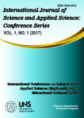 International Journal of Science and Applied Science: Conference Series