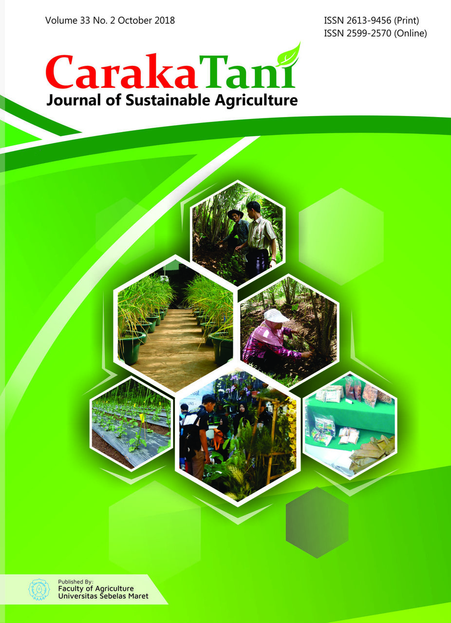 Caraka Tani: Journal of Sustainable Agriculture