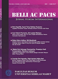 Belli Ac Pacis - Jurnal Hukum Internasional UNS
