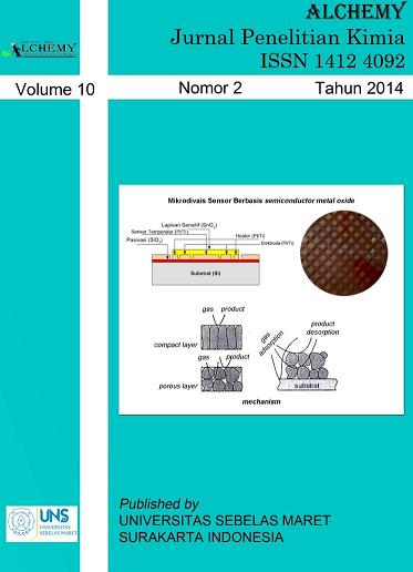 Alchemy Jurnal Penelitian Kimia, Vol. 10, No. 2 Tahun 2014